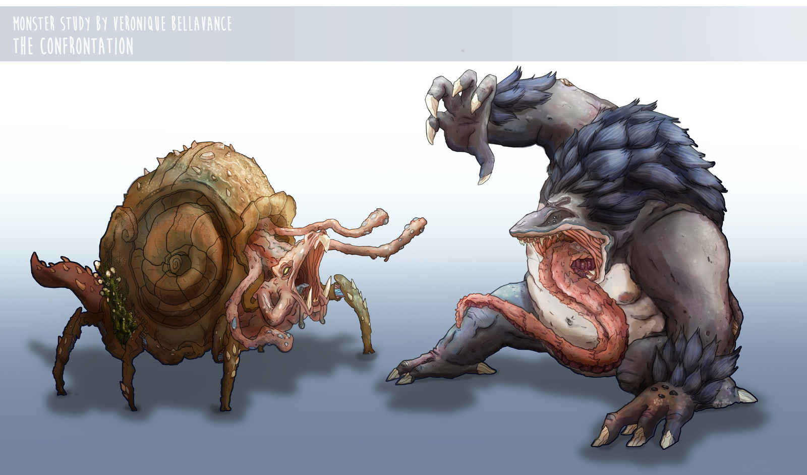 Final Concept of the two monster.