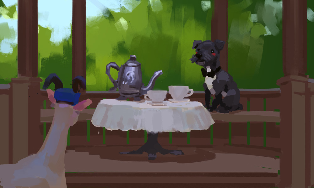 """""""A cup of tea for you mailgoat?"""""""