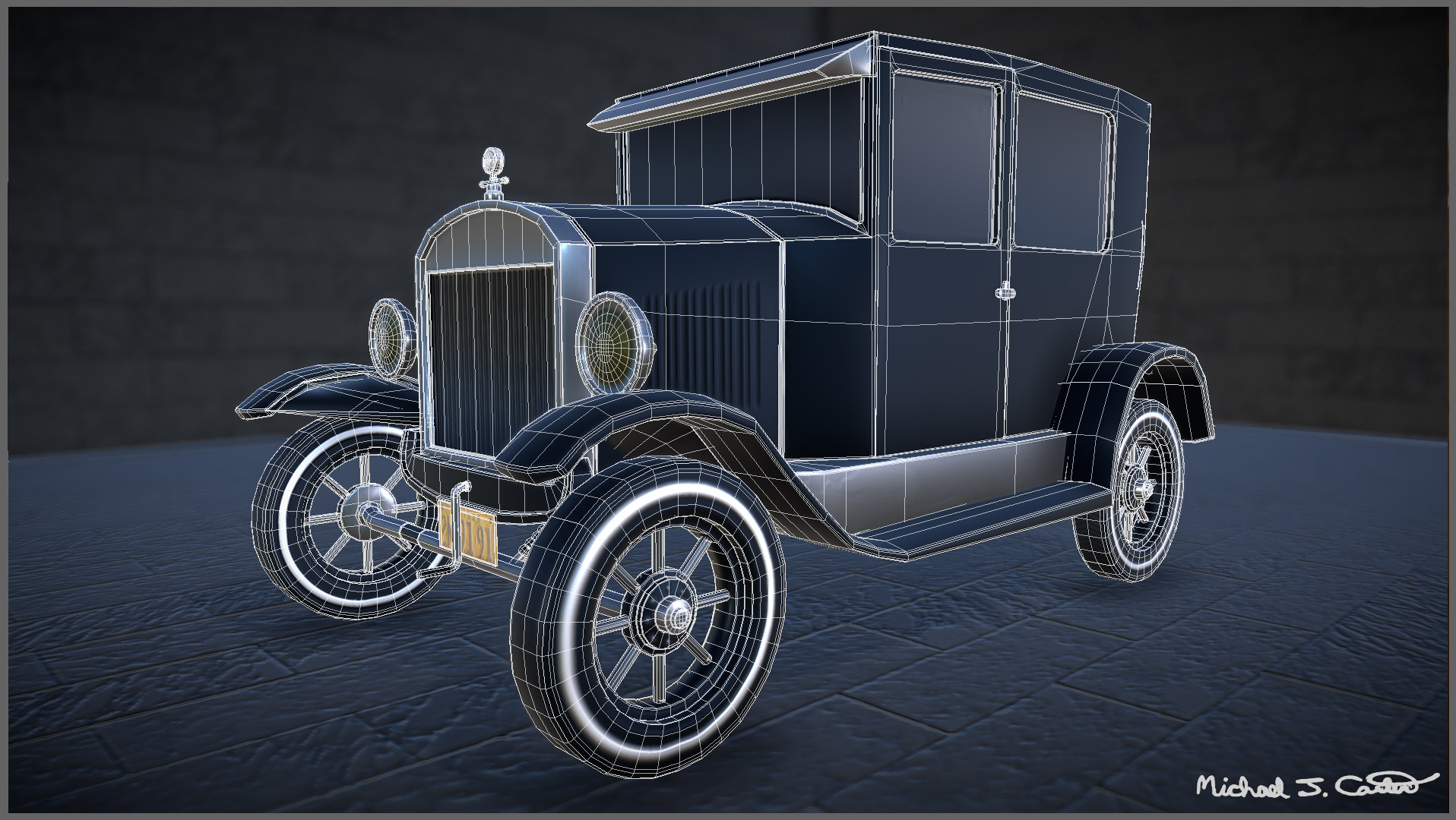 Michael jake carter mcarter 1926 model t wireframe view