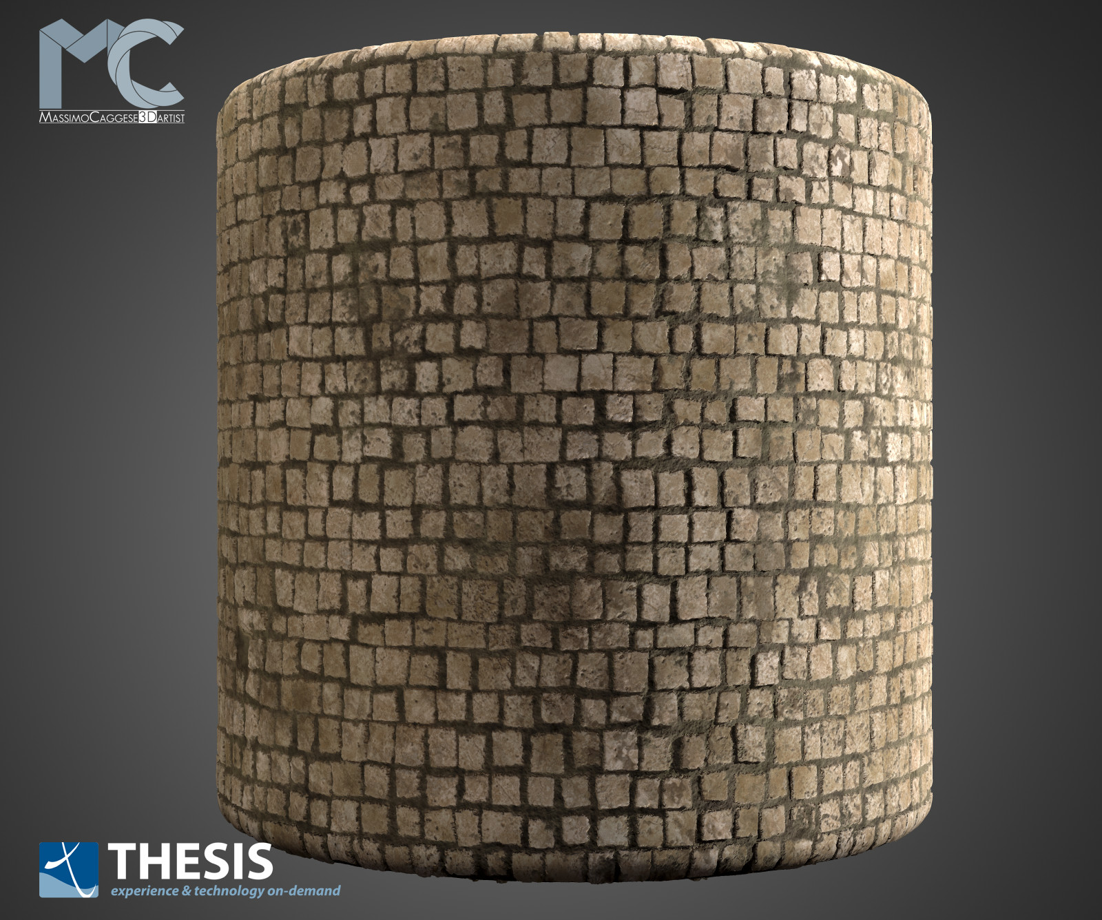 Cylinder  visualization (Marmoset Toolbag 3).