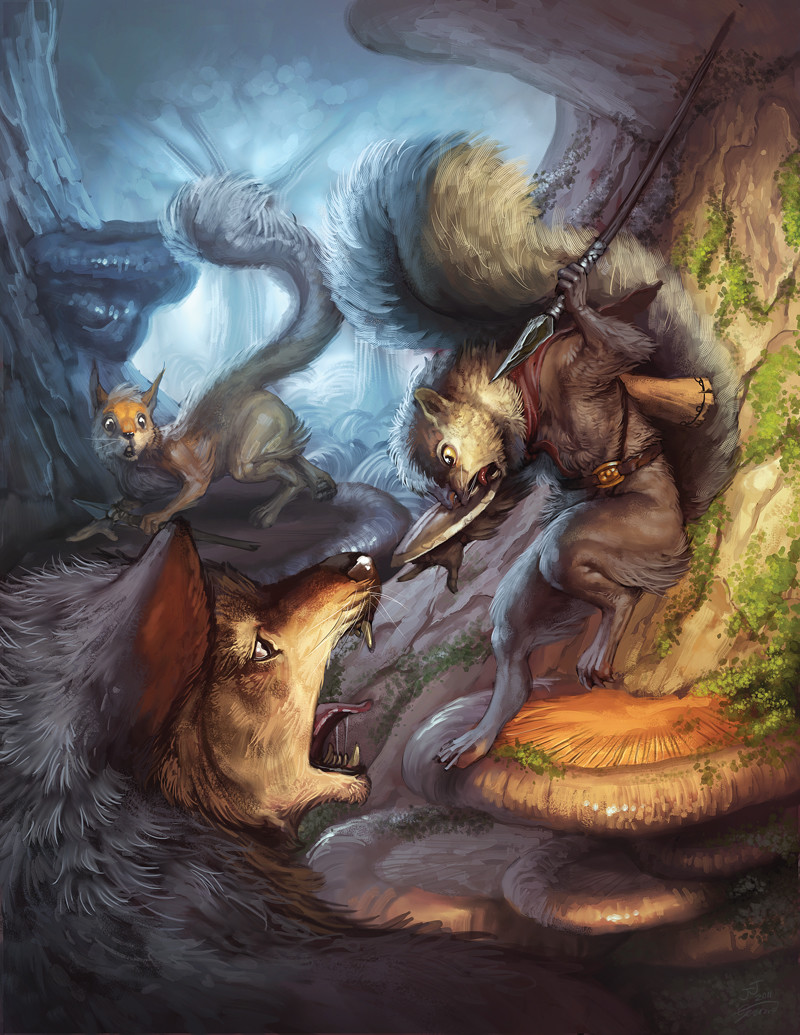 """Cover Illustration for the book """"Rifts of Rime"""""""
