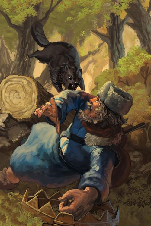 """Cover Illustration for the book """"Black Pelt"""""""