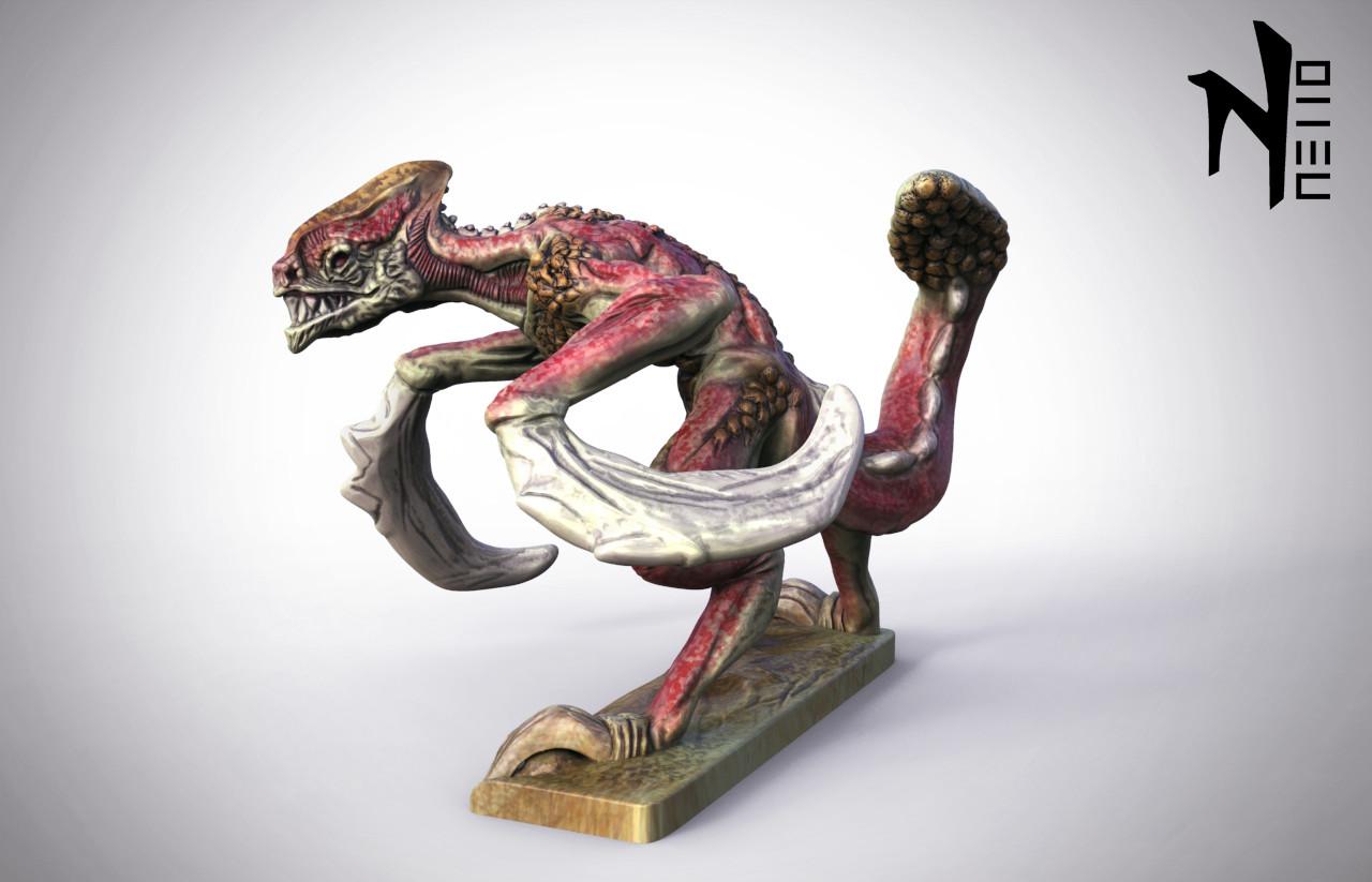 ArtStation - Fantasy Creature Miniature, Sebastiano Di Grazia