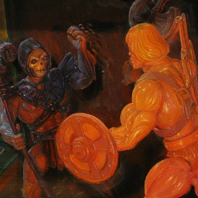 Eric bond skeletor vs he man 8x10