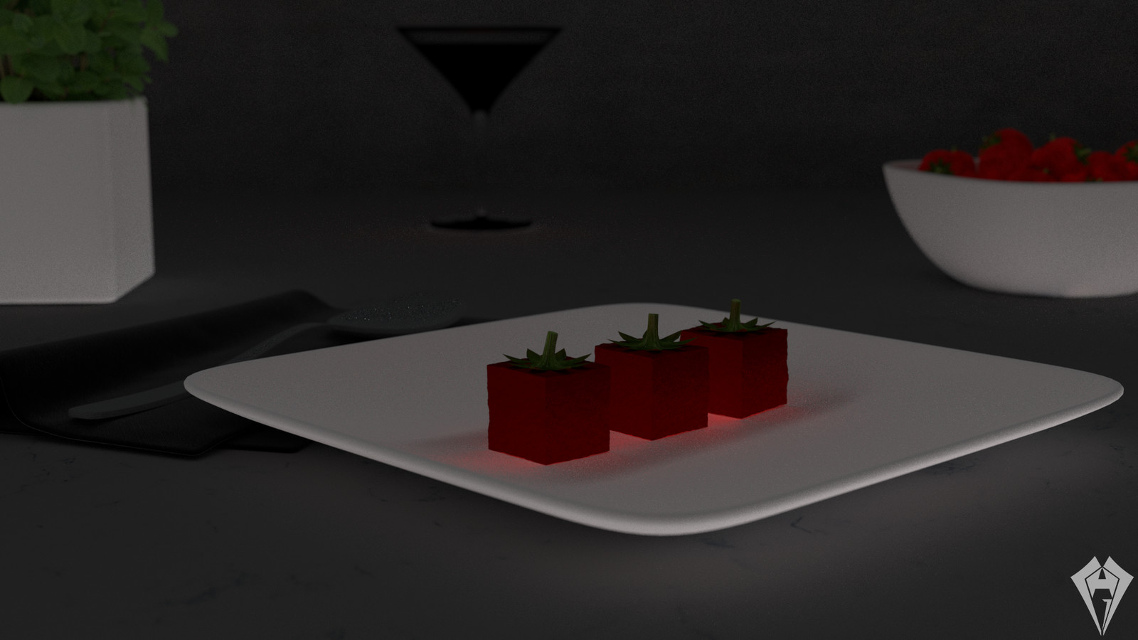Molecular Strawberry Jelly GI by Hugo Matilde