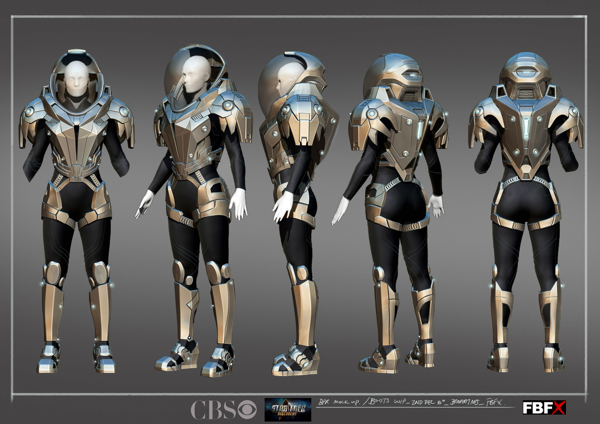 Released artwork for deep space suit