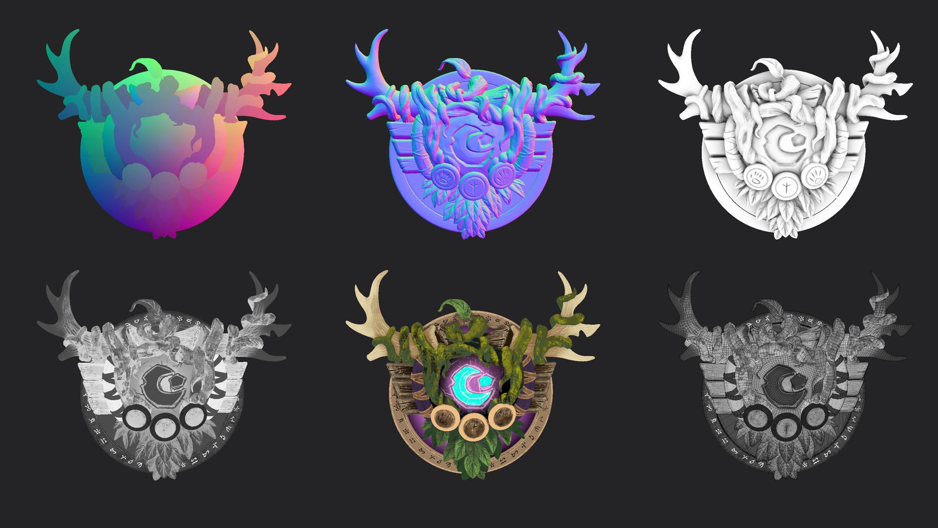 Artstation Warcraft Druid Crest Robbie Walker