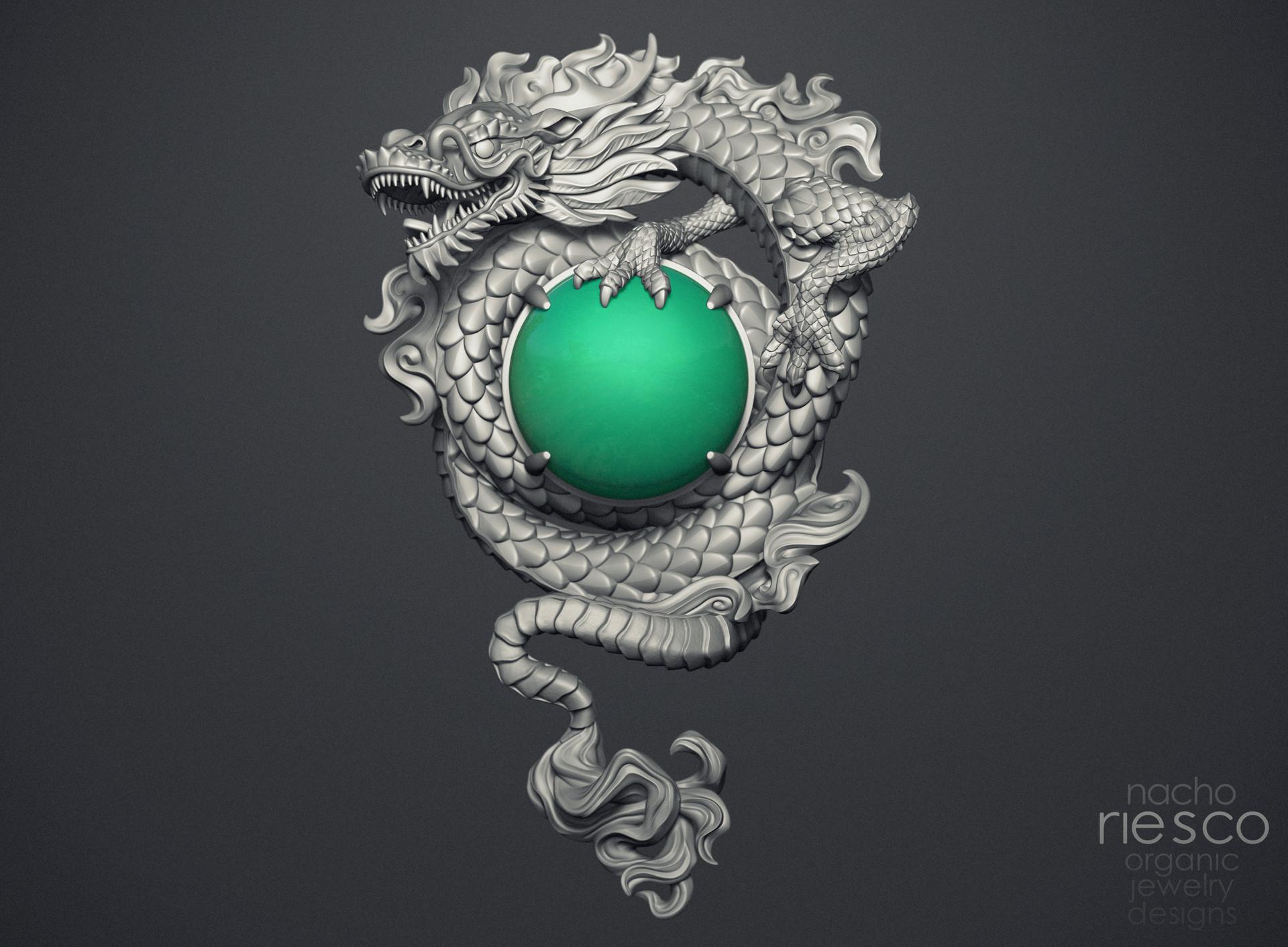 Nacho riesco gostanza colgante dragon y jade zbr