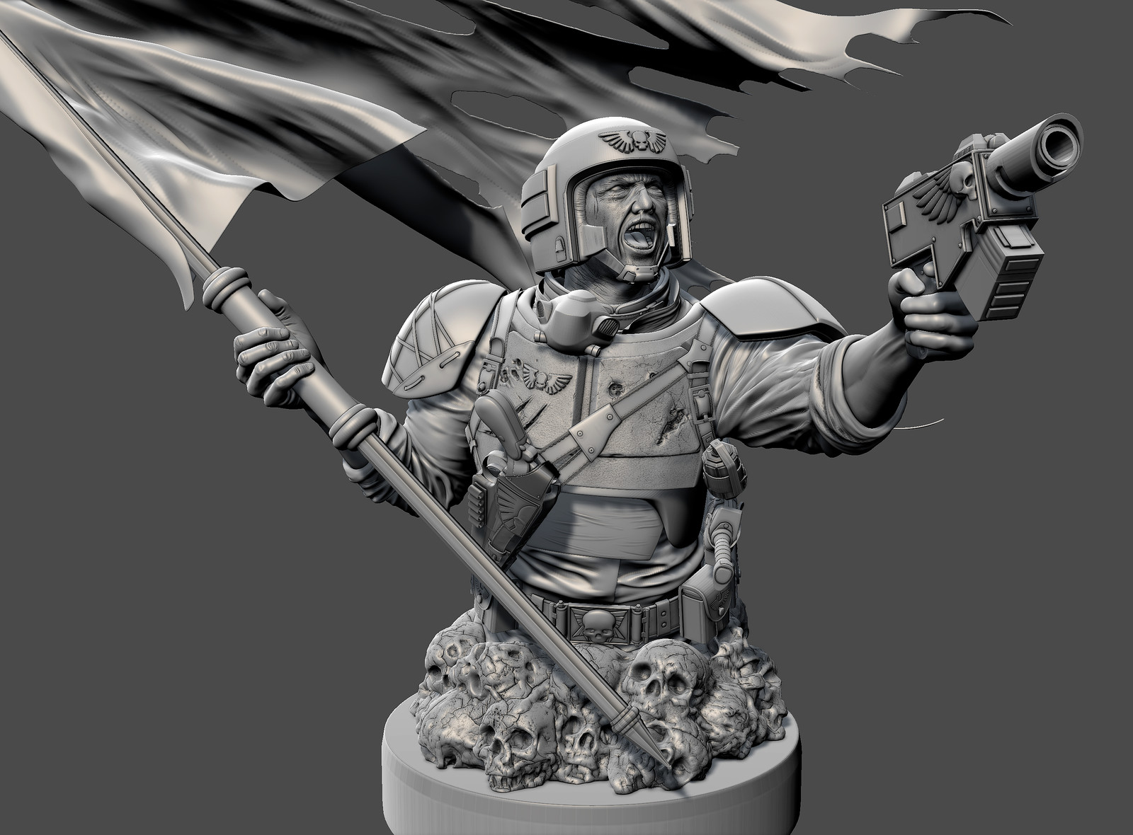 Astra Militarum Mudbox viewport