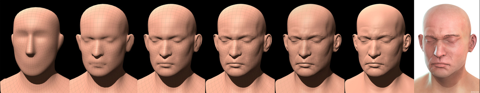 Quick head sculpt. Mudbox viewport.