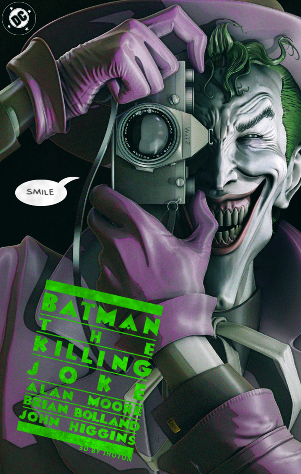 Tribute to the comic book cover Batman The Killing Joke. Loved it.