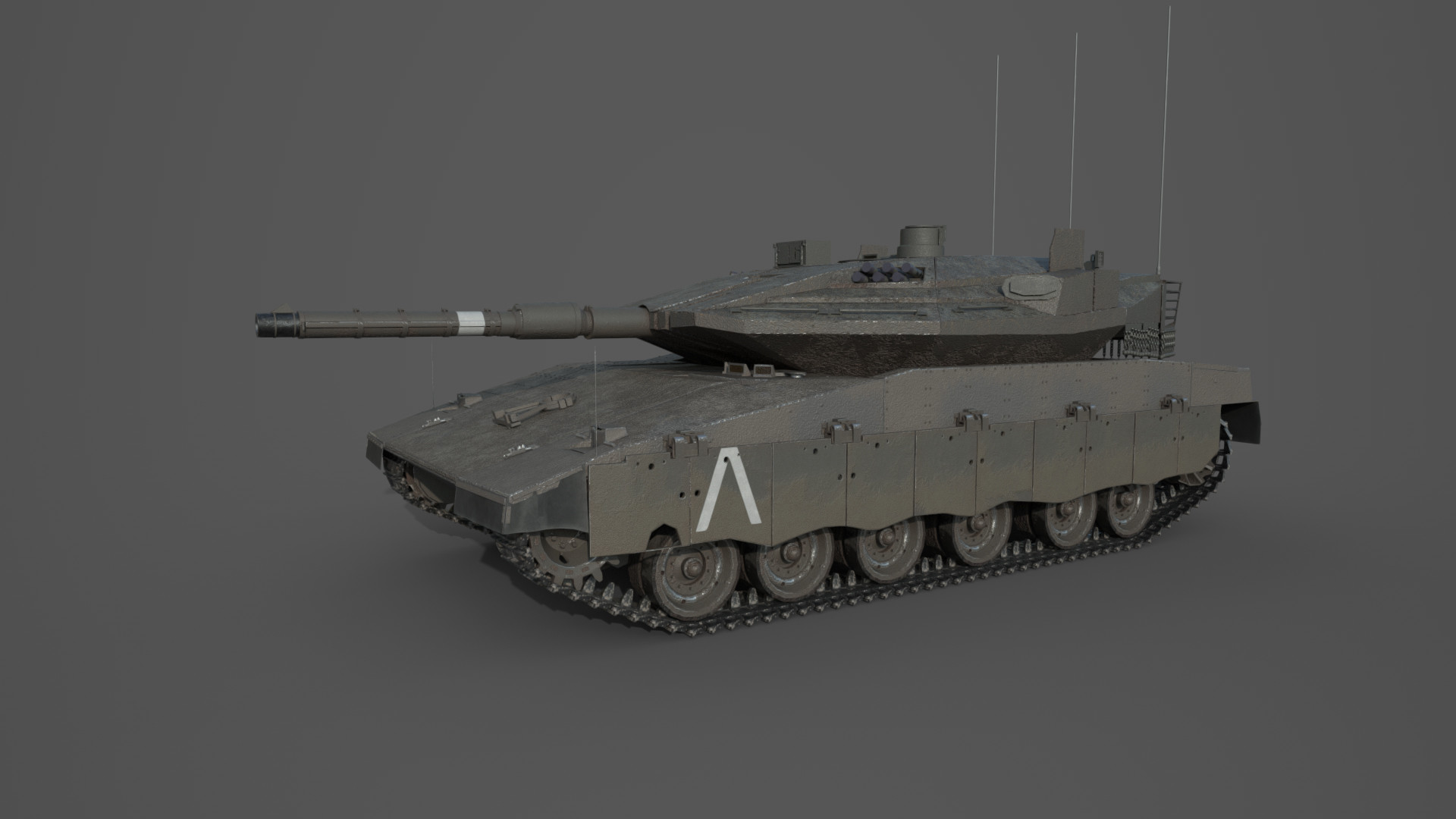 Updated PBR texture. 1/4 Little info about the tank skin: Top surface contains sand to better blend into the natural desert environment of the Middle East.