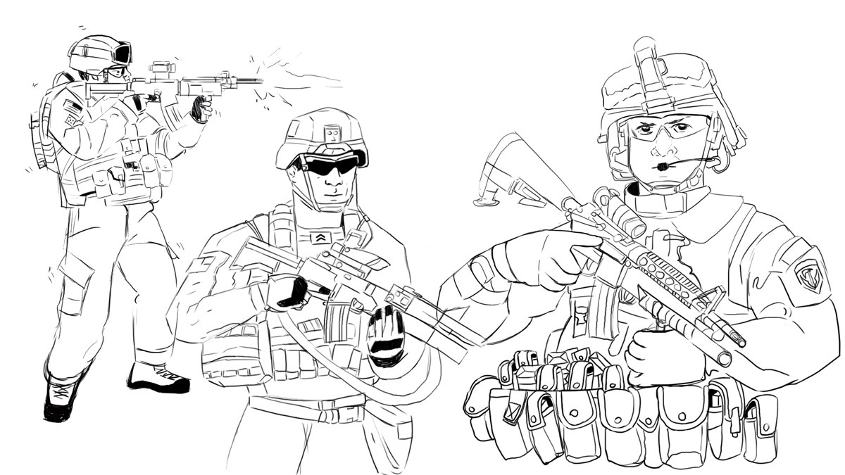 Soldiers B&W