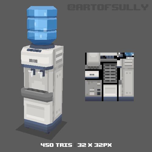 3D Pixel-Art Water-Dispenser (Commission)