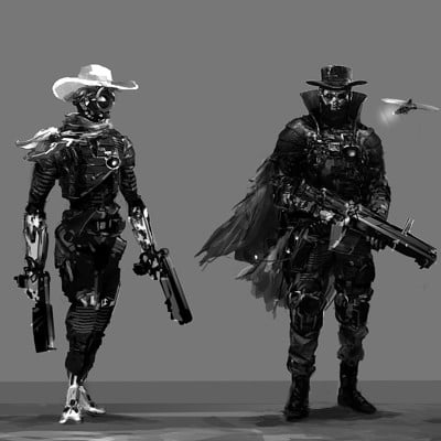 Cyber Wild West Characters set