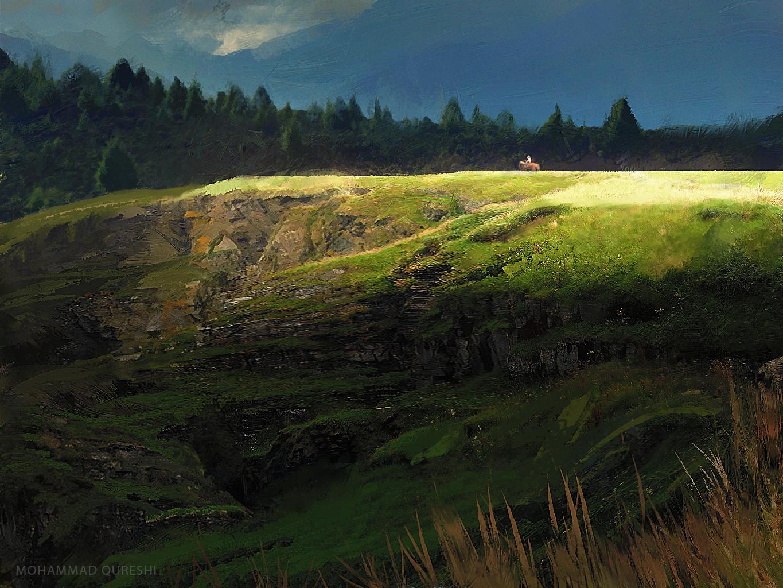 Mohammx qureshi landscape sketch
