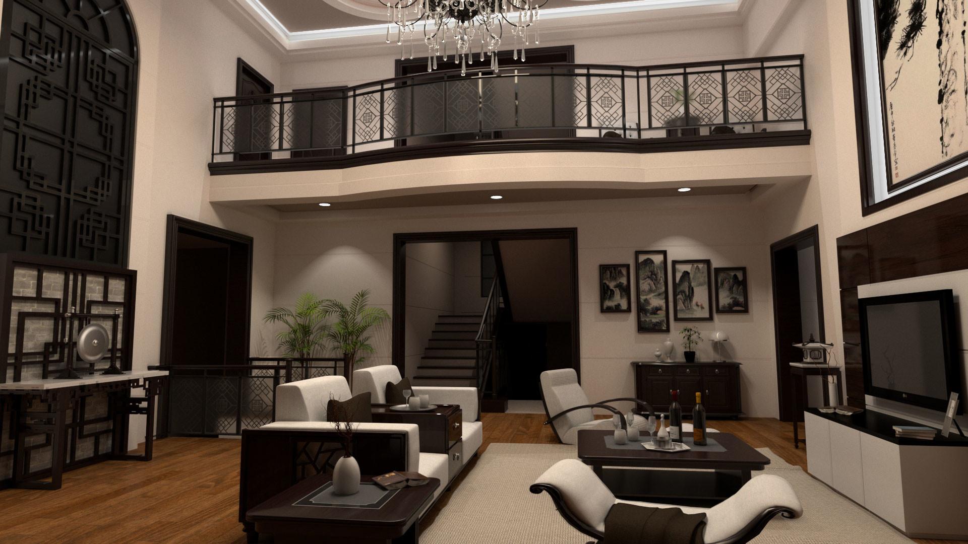Modern Chinees Interieur : Artstation modern chinese interior design joey lee