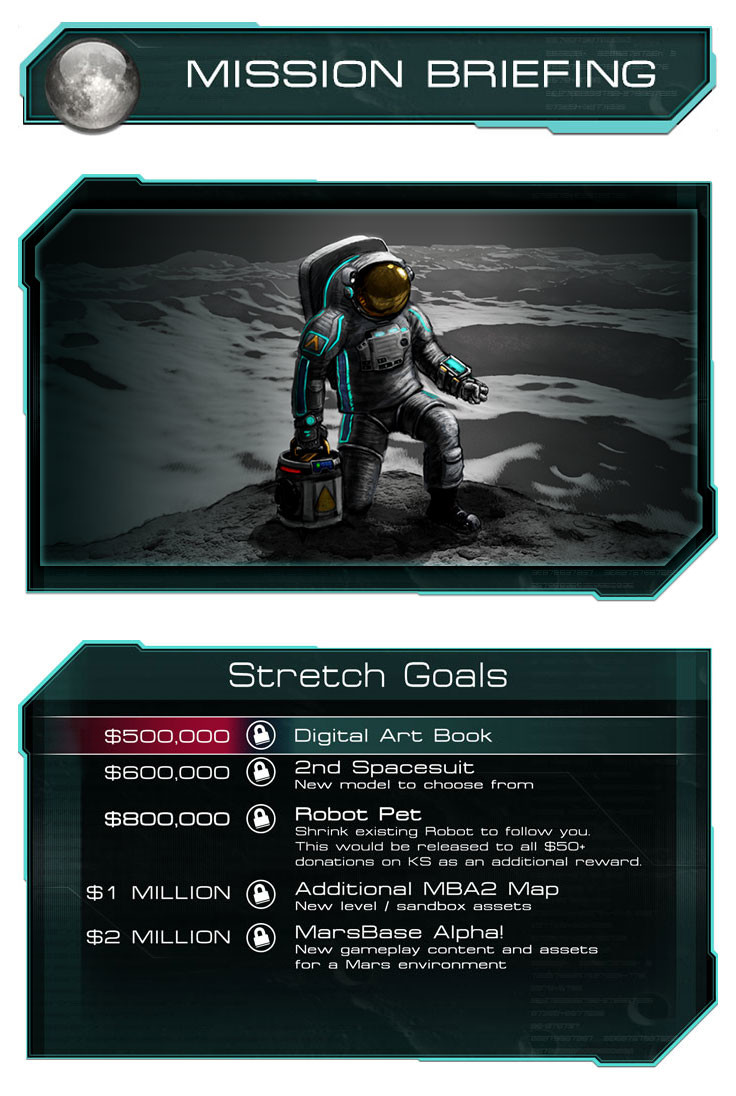 Headers, screenshot frame, and stretch goals