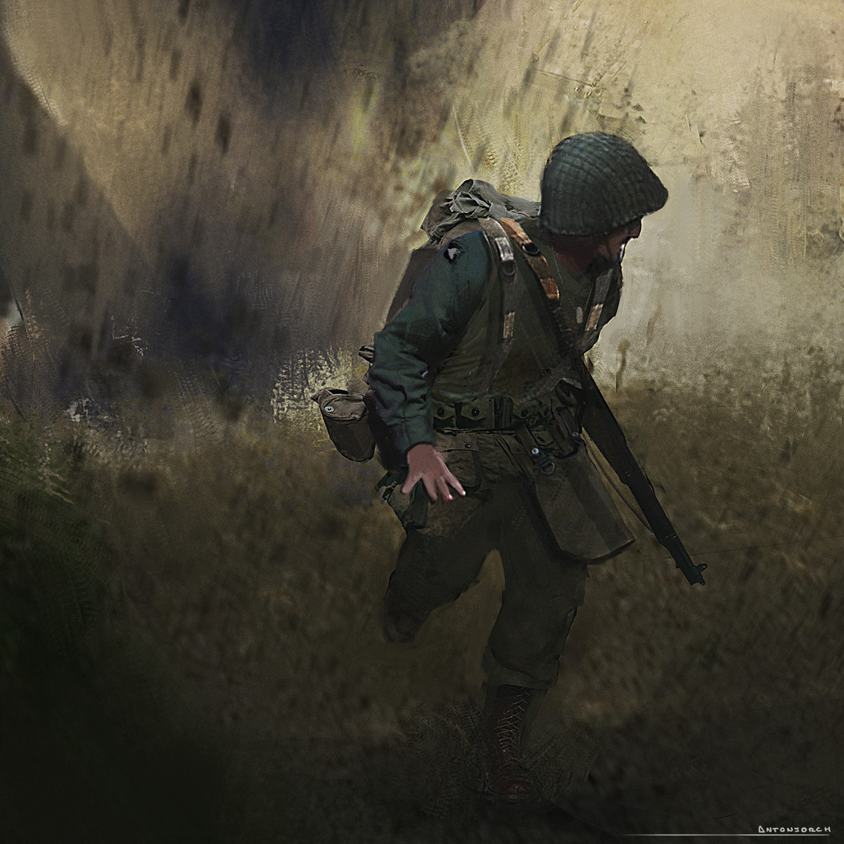 WW2 Keyframe Sketch - Soldier