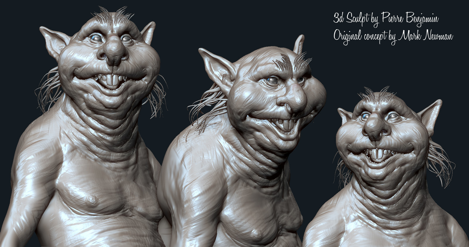 Thimbletack - 2 hours speed sculpt Study based upon an original Concept By Mark Newman