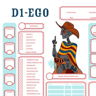 Dungeons & Dragons 5e Character Sheets