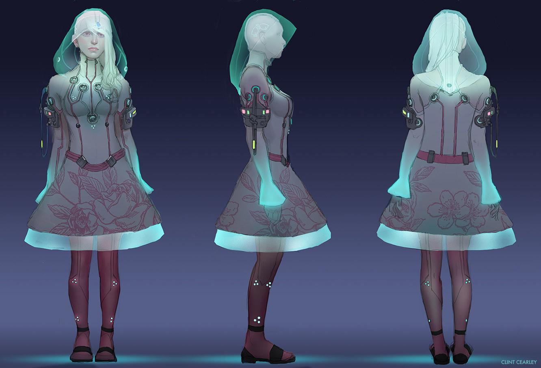 Night version of Alice's attire
