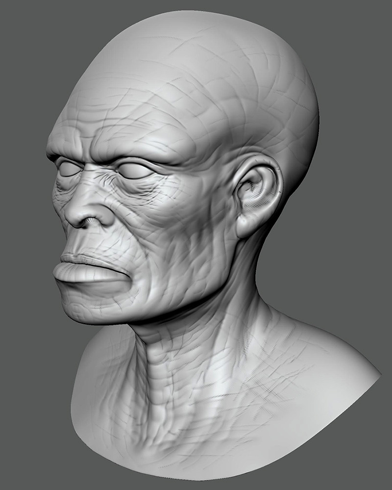 Testing out Mudbox again…it's been years.  This is my 2nd head sculpt...about 2 hours.