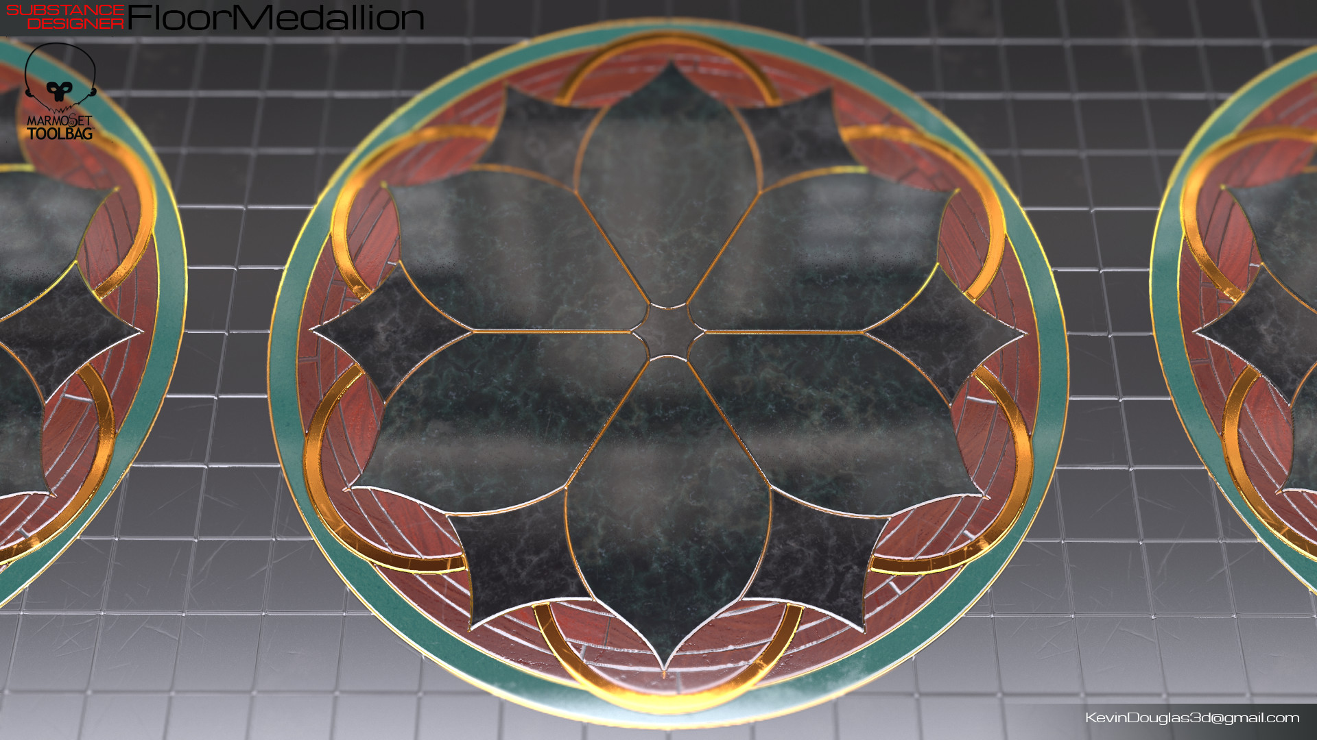 Kevin douglas floor medallion beauty wharehouse