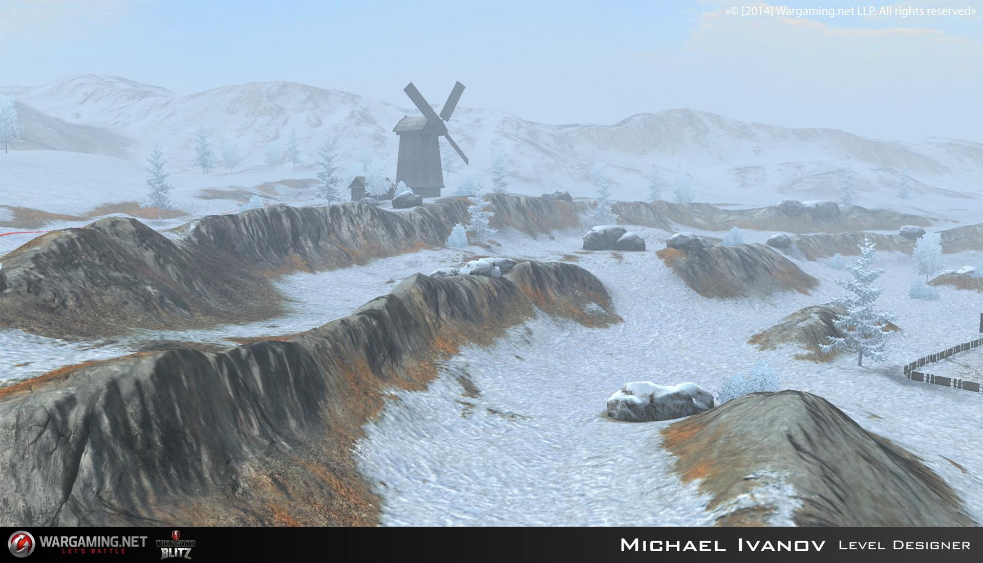 ArtStation - Winter Malinovka - World of Tanks Blitz Map, Michael Ivanov