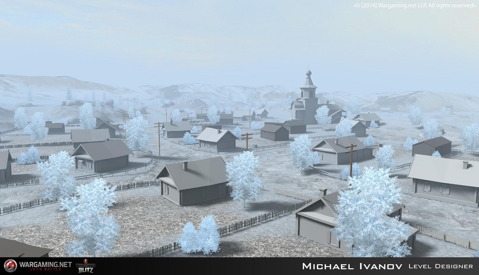 artstation winter malinovka world of tanks blitz map michael