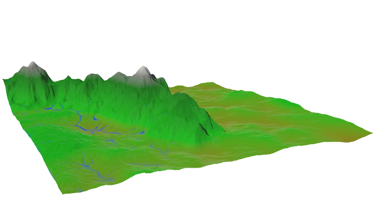 Final terrain render