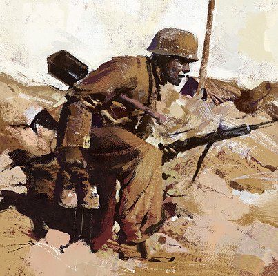 Greg rutkowski soldier study 1500