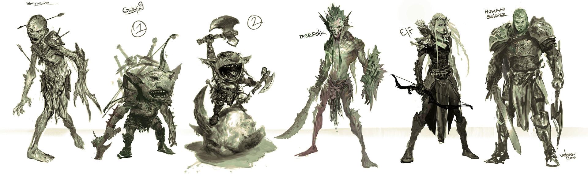 Svetlin velinov manicomix illustration mtg characters