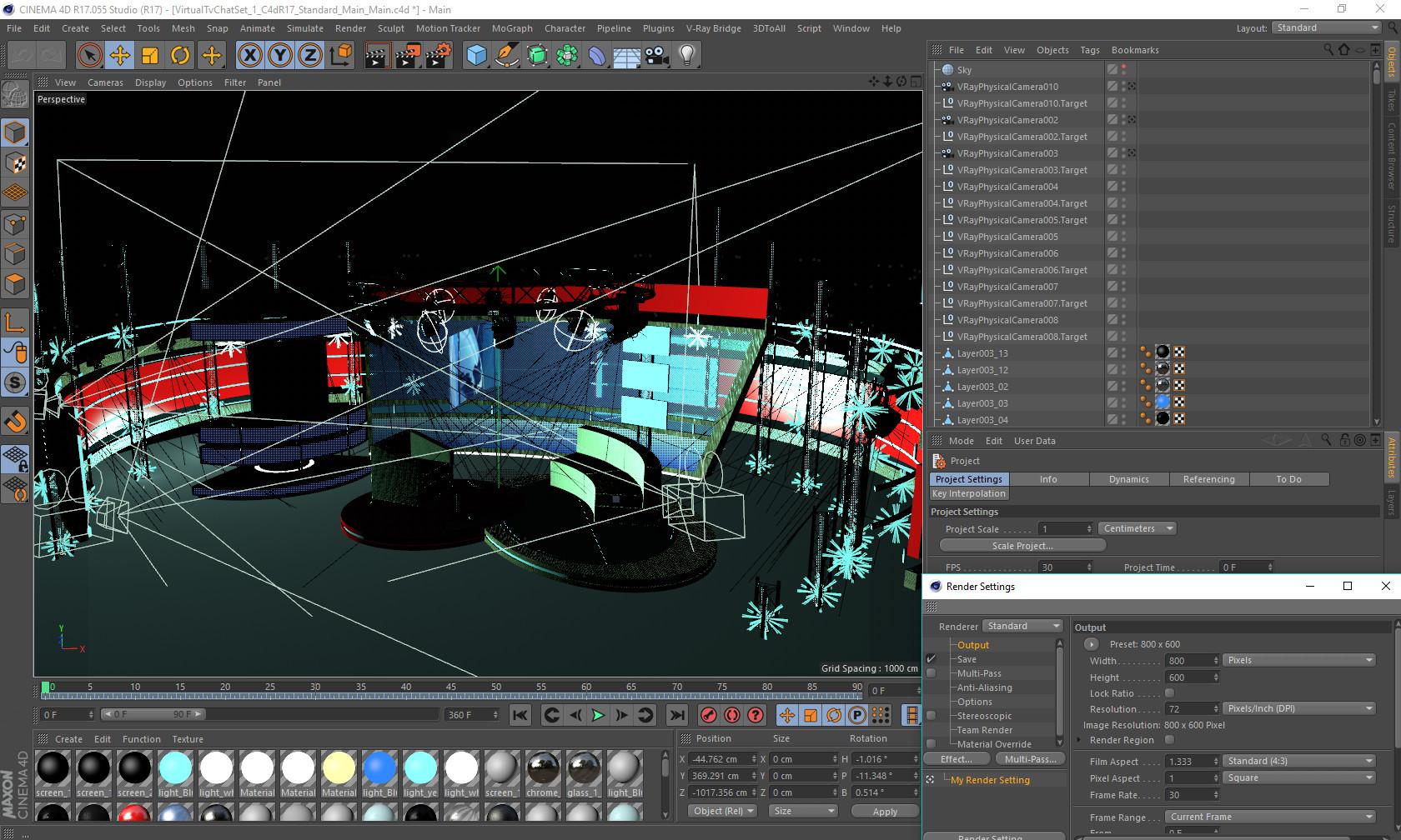 ArtStation - 3D Virtual TV Studio Chat Set 1, aker Studio