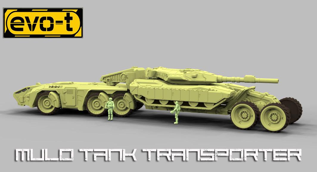 German impache tank transporter 2