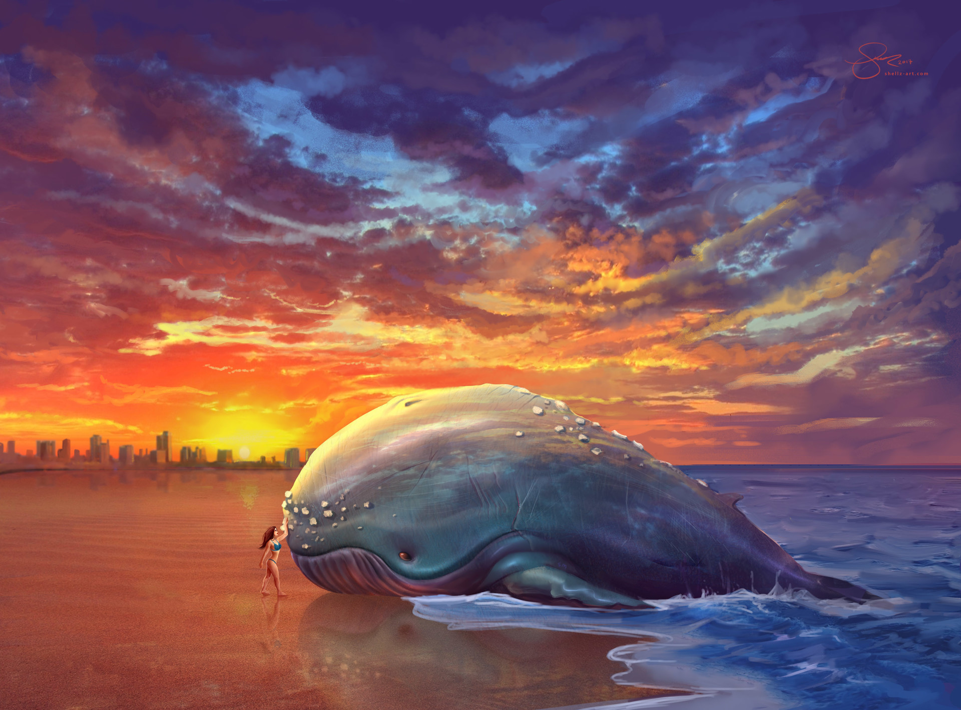 Shellz art beached whale 2 sig