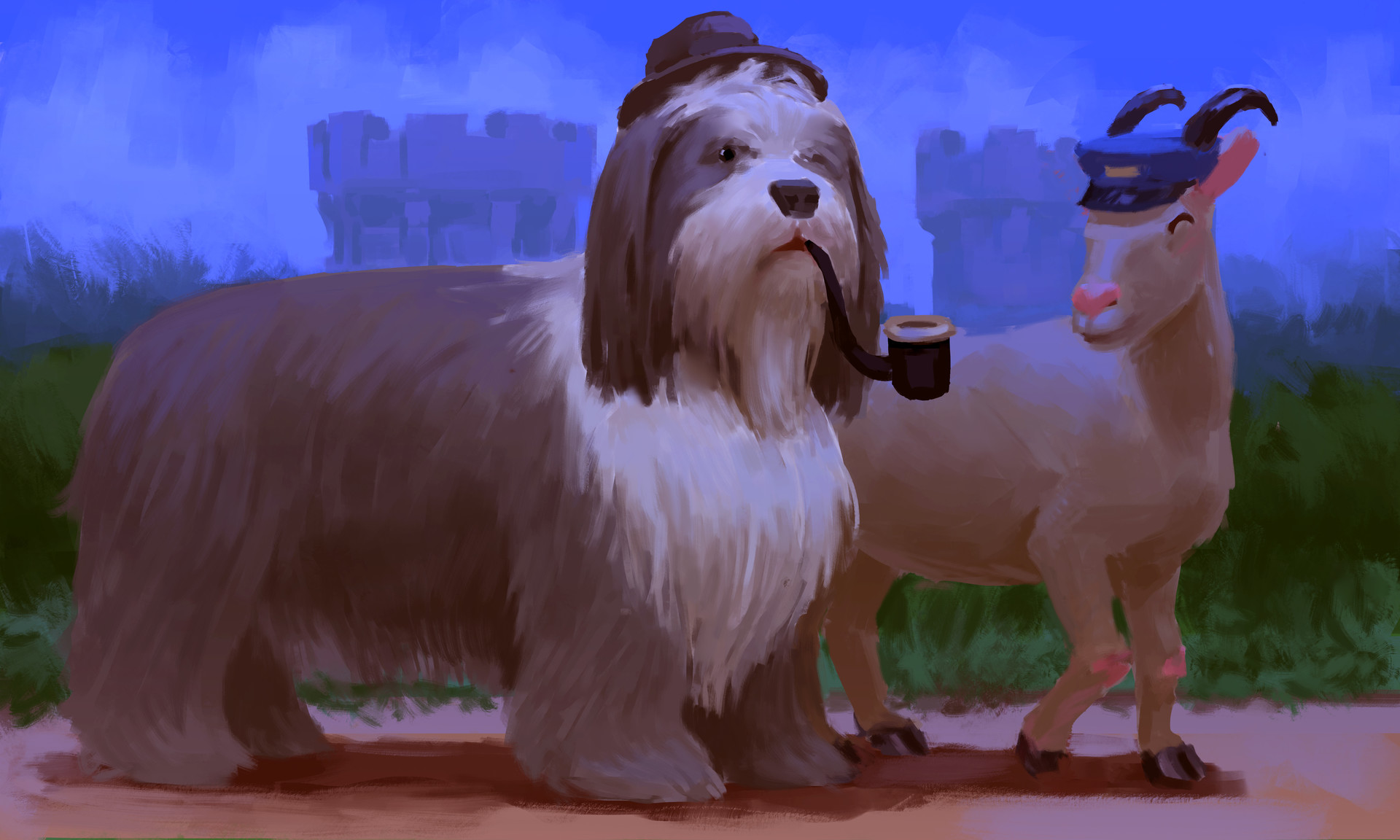 Devin platts bearded collie