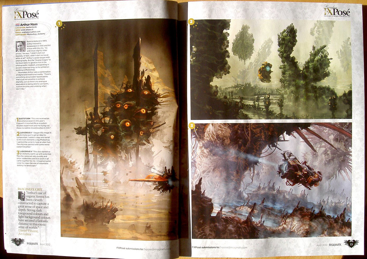 Arthur haas imaginefx issue april 2012 pages 12 13