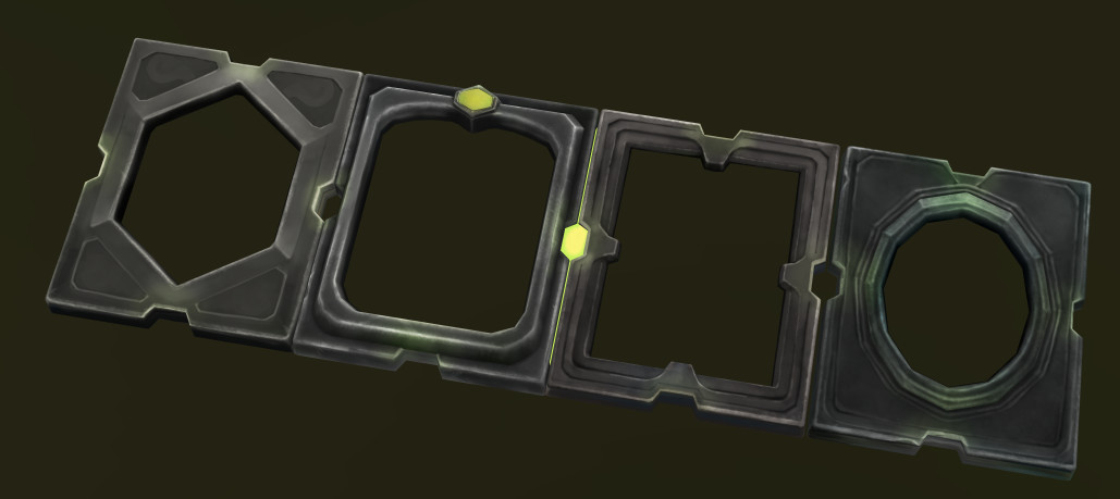 The frames for the talents are actually 3D-assets!