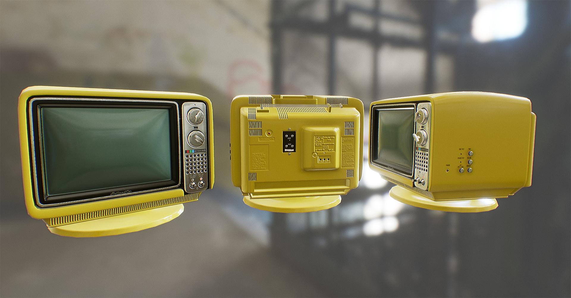 ArtStation - Vintage Television, Jon Holland