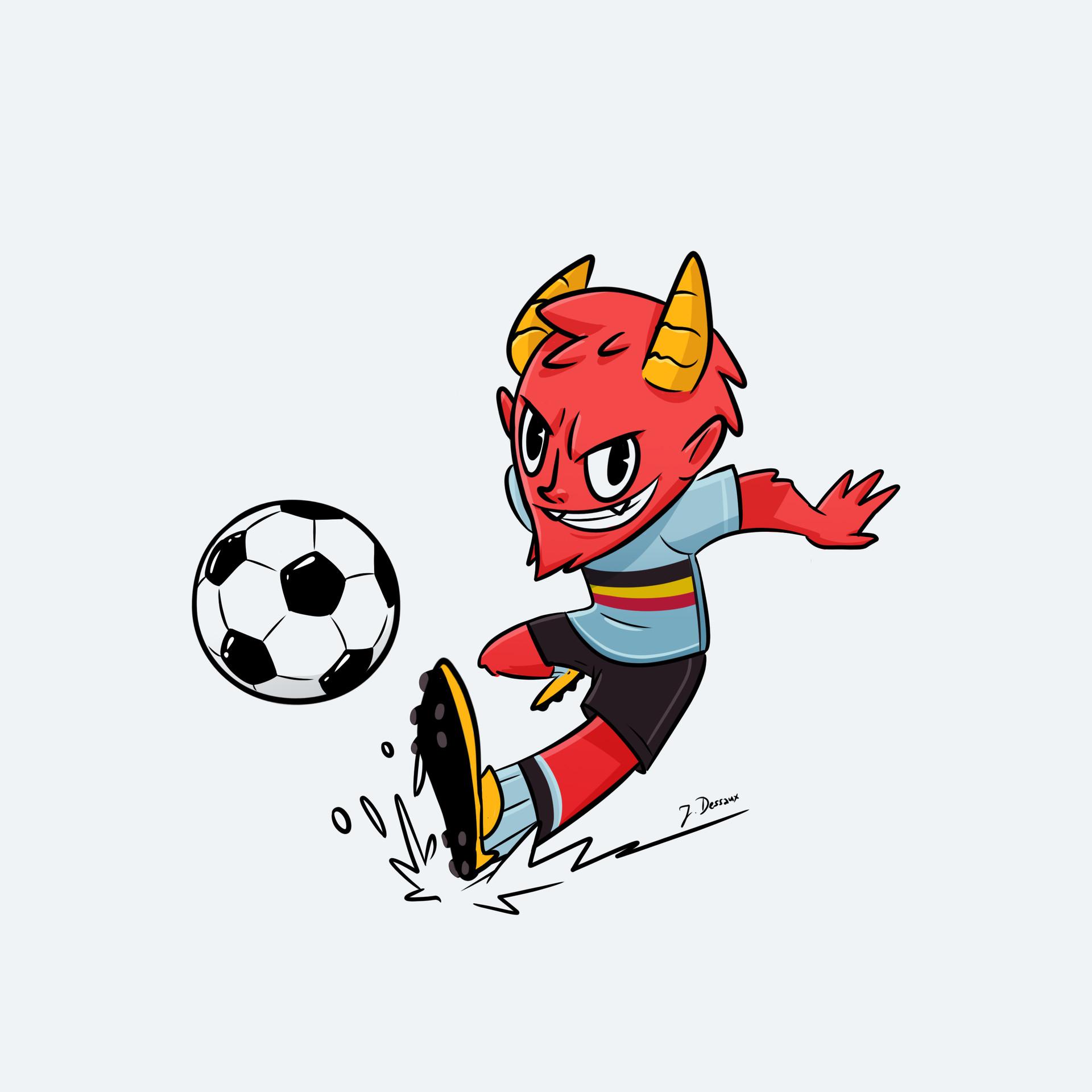 Jeroen Dessaux Red Devils Mascot Contest Entry