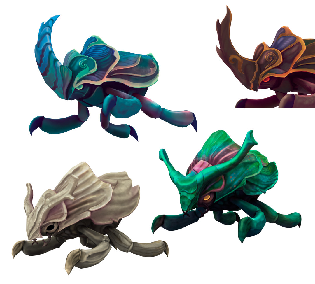 In-game assets for the Stag-monsters.