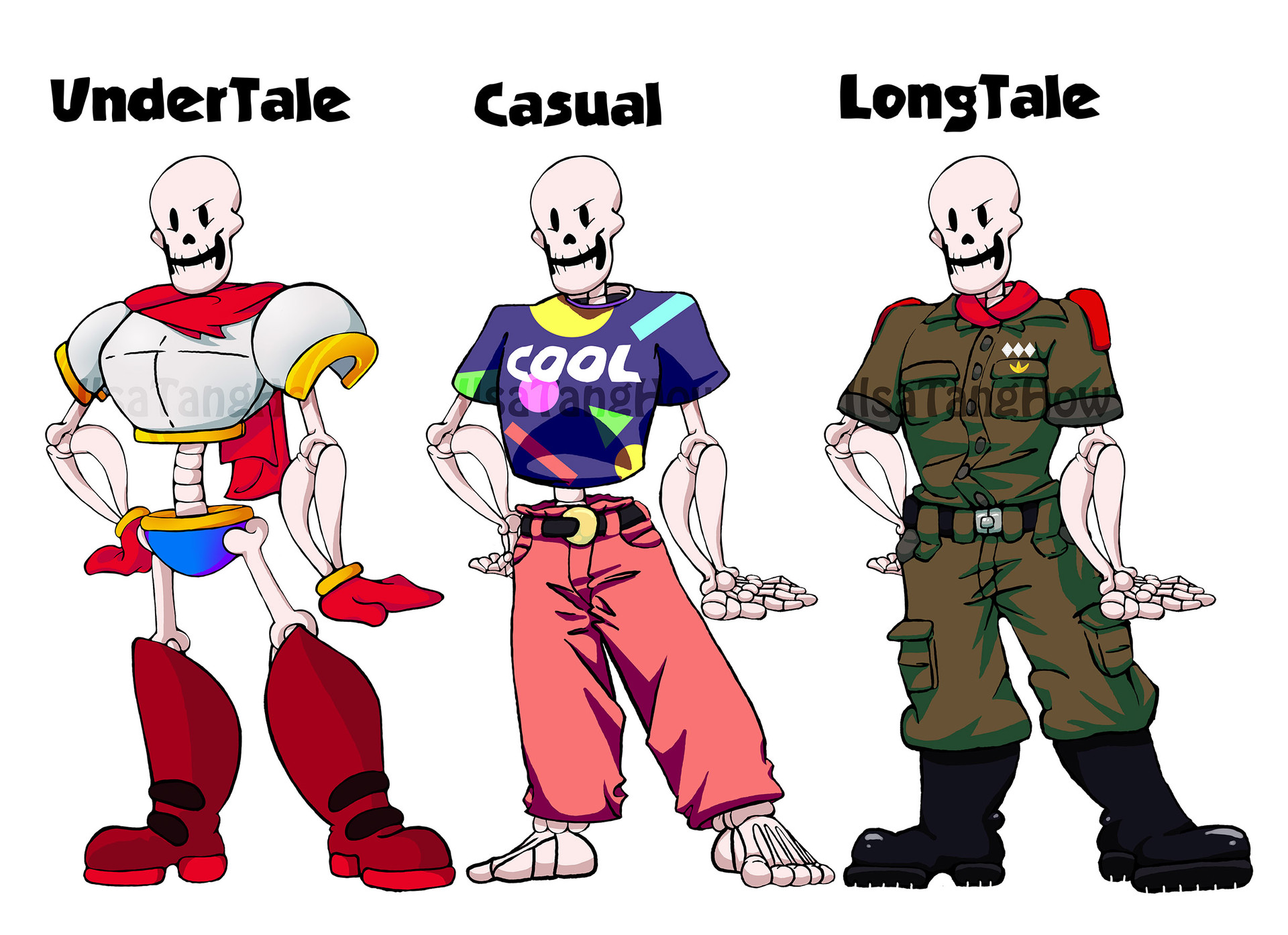 ArtStation - UnderTale - Papyrus, LongTale Animation