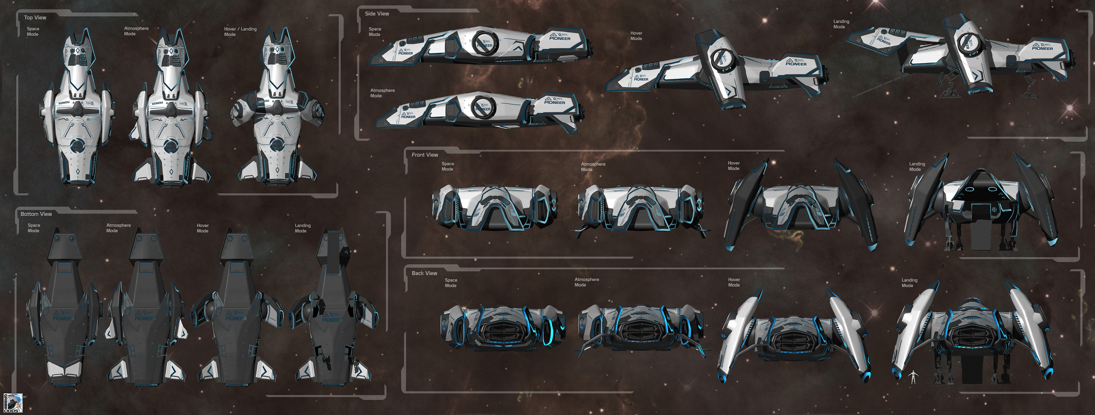 Grimm Odds - Shuttle - Orthographic views