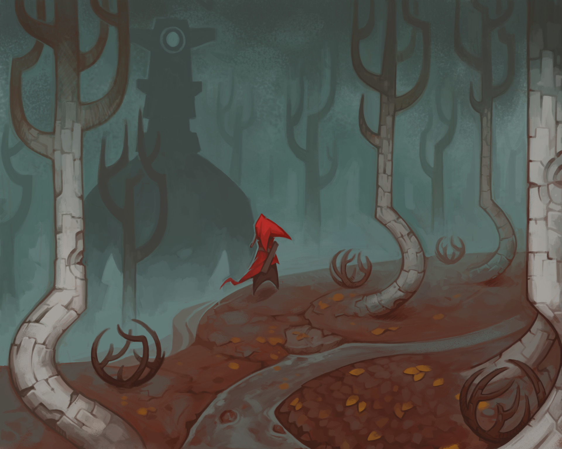 Very early red forest thumbnail
