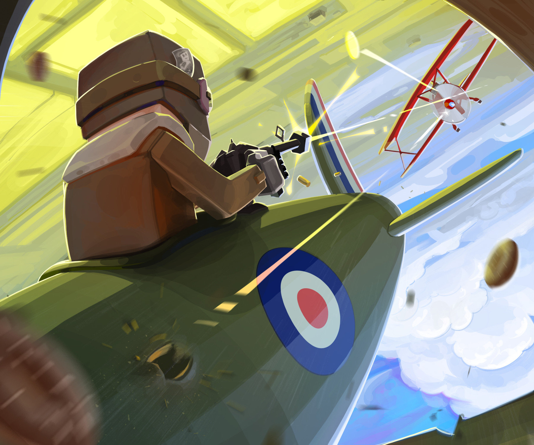 Nicolas morales world war i flying aces illustration doughnut