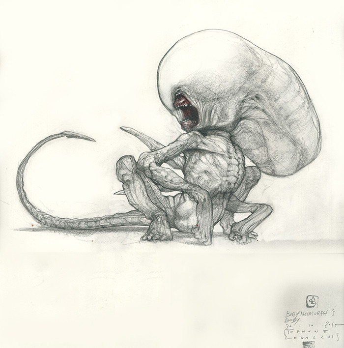 My design for the baby neomorph for Alien Covenant.