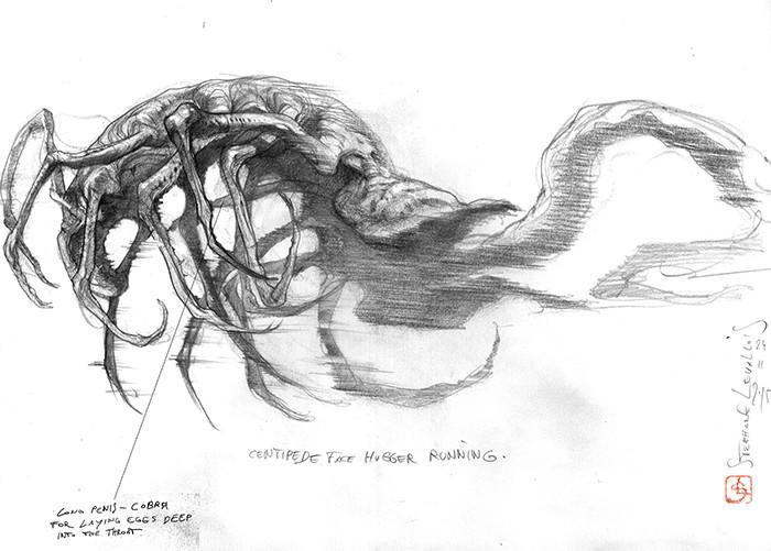 centipede-face hugger concept.