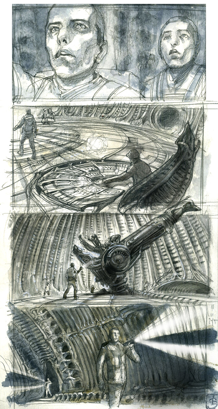 """Board Alien covenant sequence """"first landing"""" p8"""