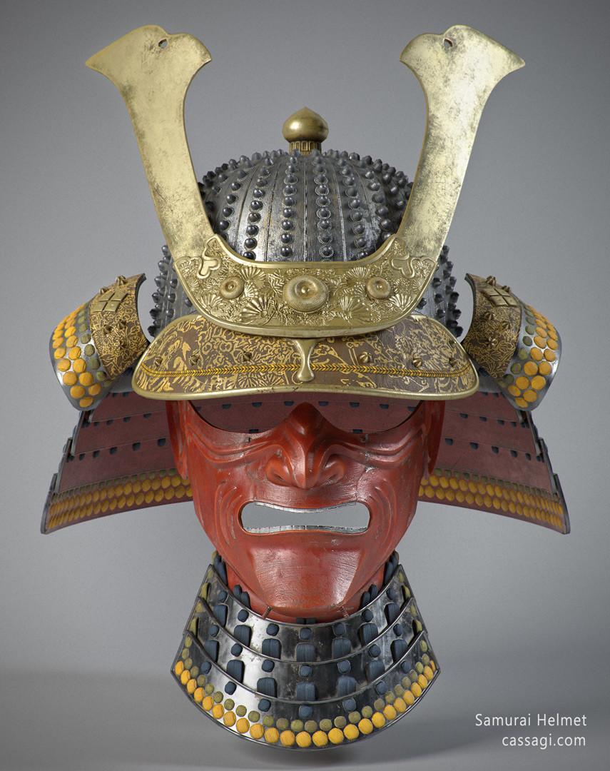 Artstation Samurai Helmet Game Asset Cassa Game Industry